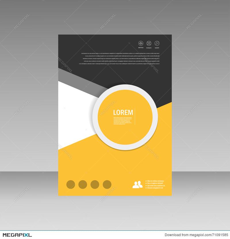800x830 Vector Leaflet Brochure Flyer Template A4 Size Design, Annual
