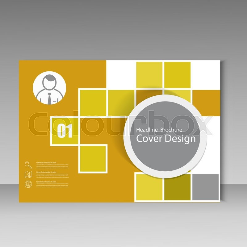 800x800 Vector Annual Report Brochure Template Design. Book Cover Layout
