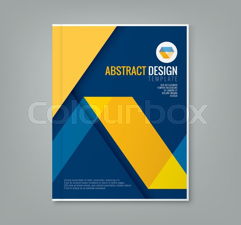 Book Cover Design Template Ai : Book cover design template vector illustration at