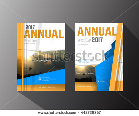 450x375 Book Cover Design Template Vector Illustration Professional Blue