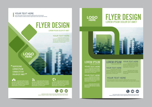 600x424 Green Styles Book And Brochure Cover Vector 05 Free Download