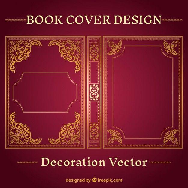 626x626 Ornamental Book Cover Design Free Vector By Freepik Books