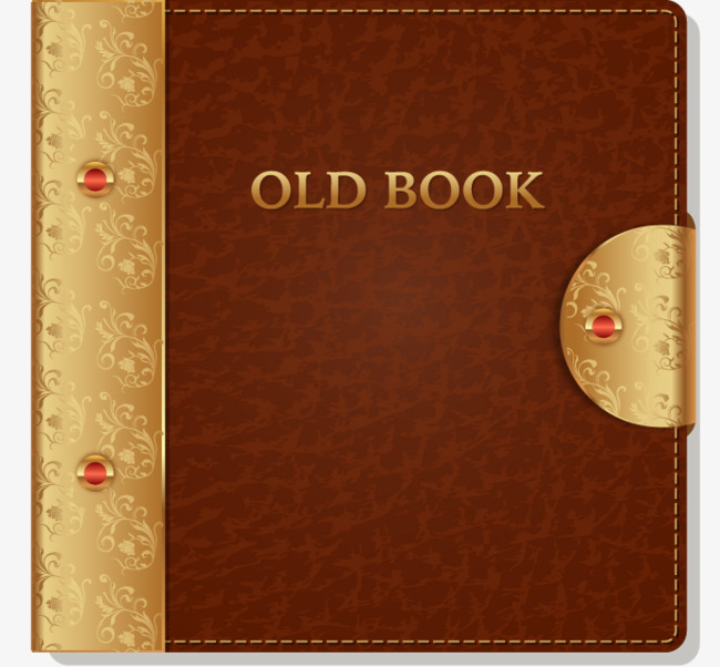 650x602 Vector Illustration Old Book Cover Leather, Book Vector, Leather