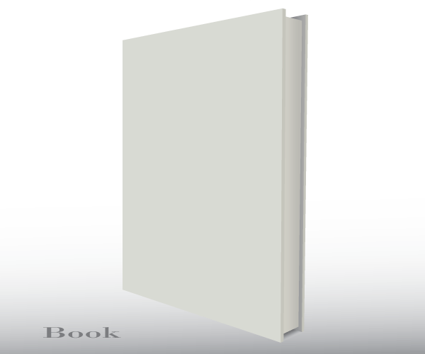 600x500 Blank Empty 3d Book Cover Free Vector Template Free Vectors