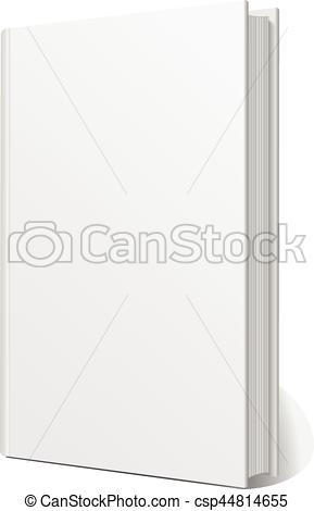 289x470 Blank Empty Book Cover Isolated On White Vector Eps 10.