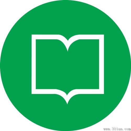 500x500 Book Icon Vector Green Background Free Vector In Adobe Illustrator