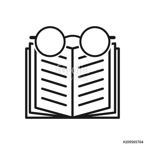 500x500 Book Icon Vector Illustration. Glasses Icon Stock Image And