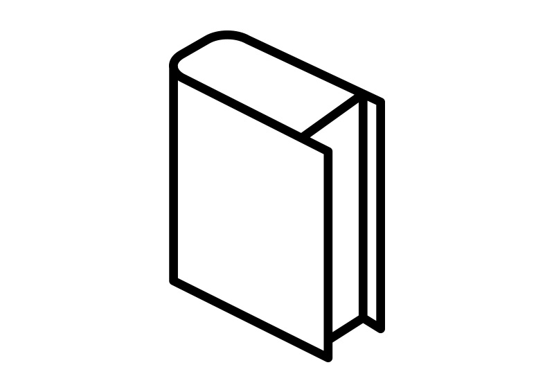 800x566 Isometric Outline Book Vector Icon