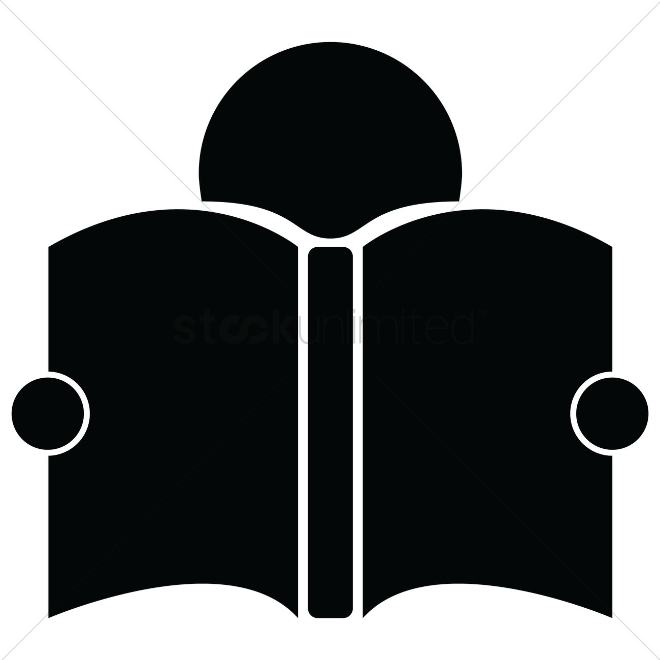 1300x1300 Reading Book Icon Vector Image