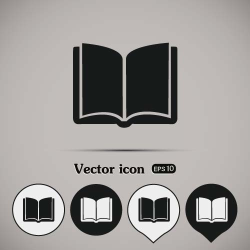 500x500 Simple Book Icons Vector Set 04 Free Download
