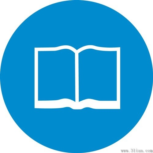 500x500 Book Icon Blue Background Vector Free Vector In Adobe Illustrator