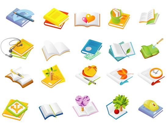 547x409 Cute Cartoon Vector Book Icon Download Props, Objects, Items