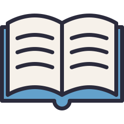 256x256 Open Book Icon Outline Filled