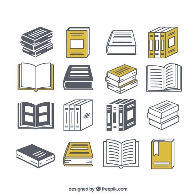 626x626 Variety Of Book Icons Vector Free Download