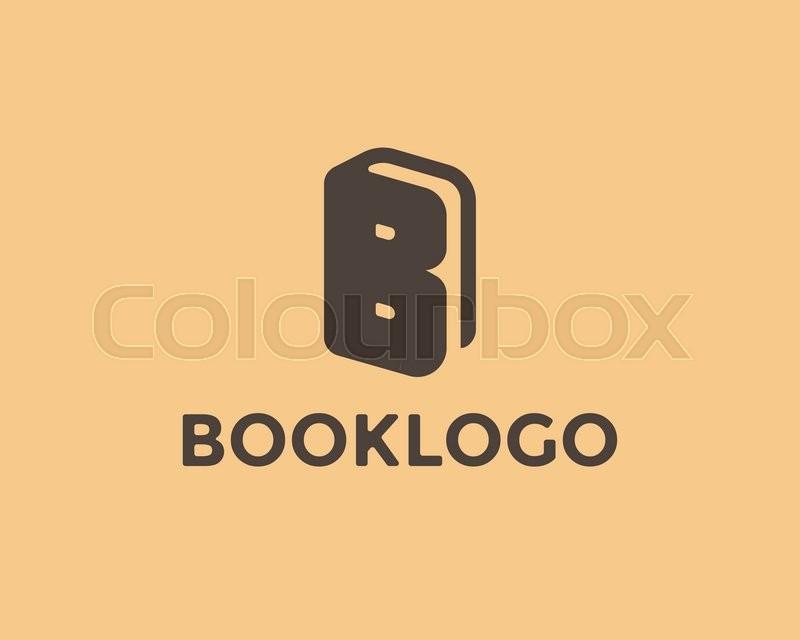 800x640 Book Logo Design Template. Letter B Symbol, Book Icon. Vector Book