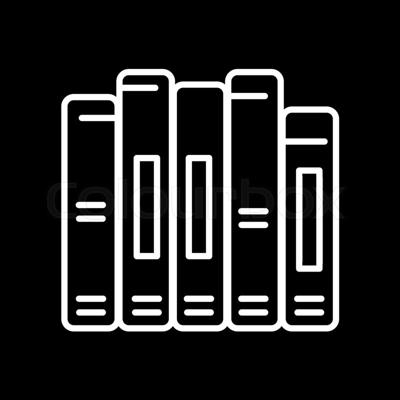 800x800 Book Spine Vector Icon. Outline Design. Eps 10 Stock Vector