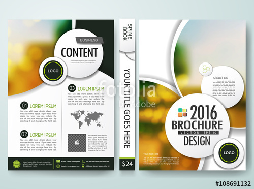 500x372 Brochure Design Template Vector. Annual Report Flyers Poster