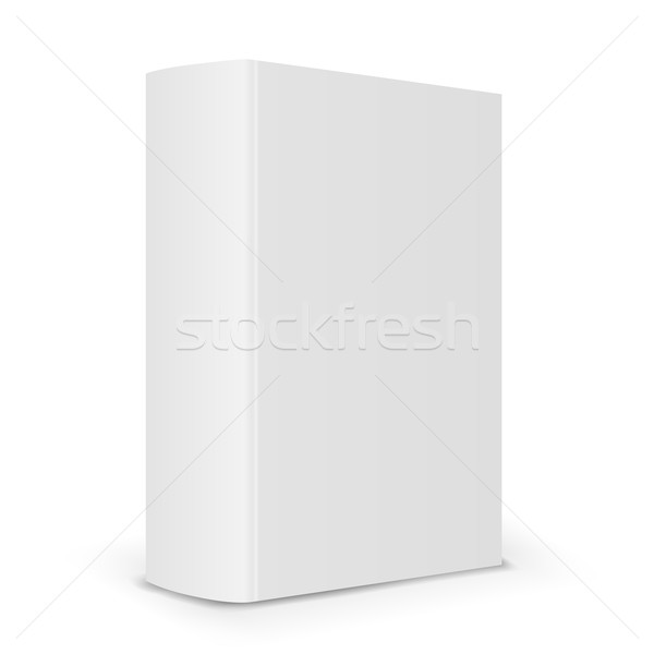 600x600 Blank Book Spine Vector Illustration Alexander Atkishkin