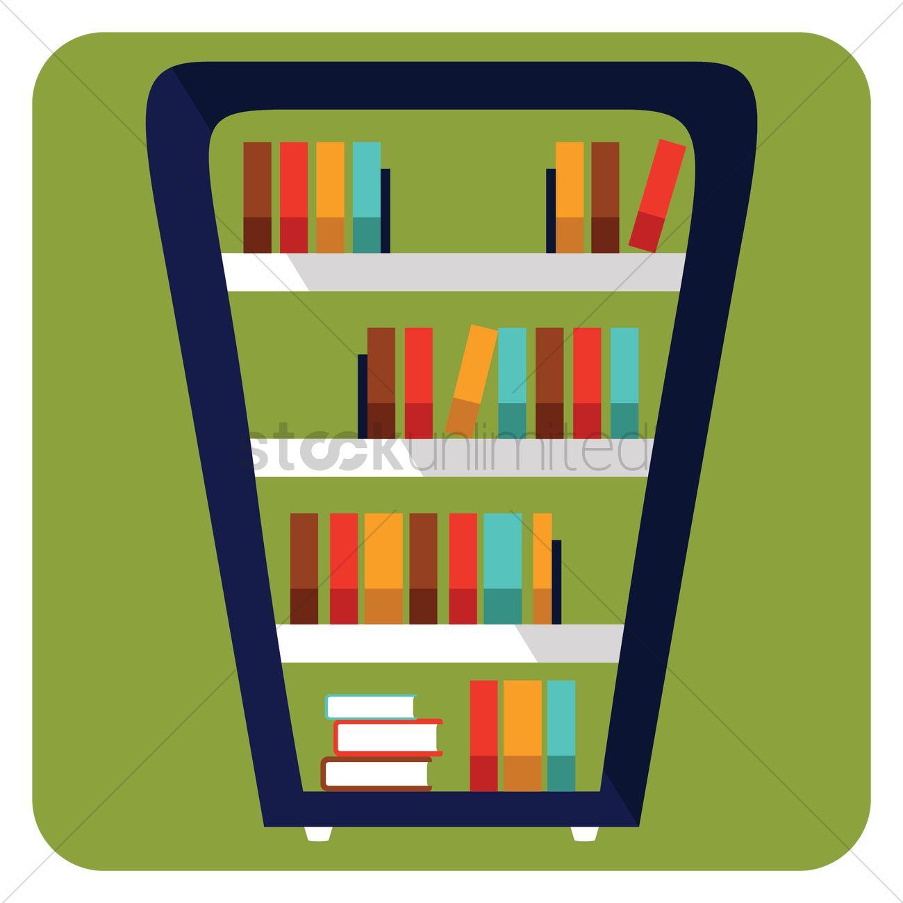 1300x1300 Bookshelf Vector Image
