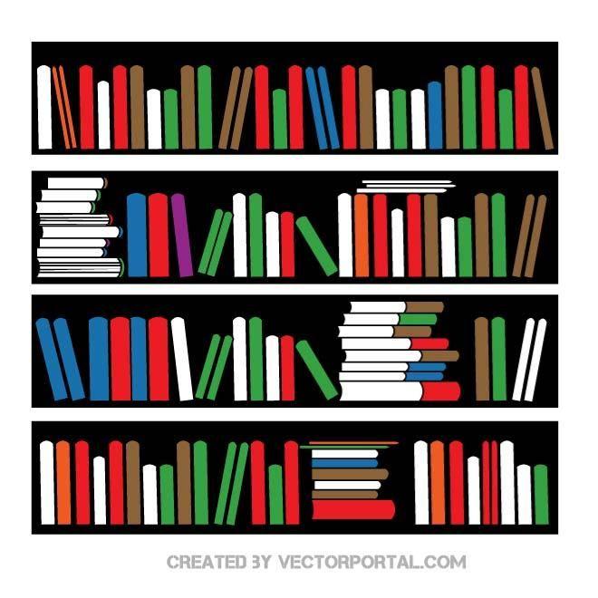 660x660 Bookshelf Vector Image. Various Vectors
