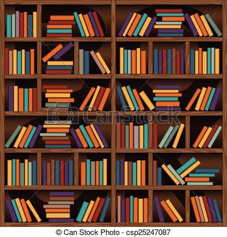 450x470 Bookshelf. Background Of Library Book Shelf.