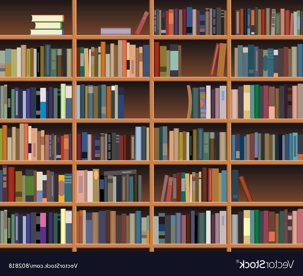 1000x911 Hd Wooden Bookshelf Vector Pictures