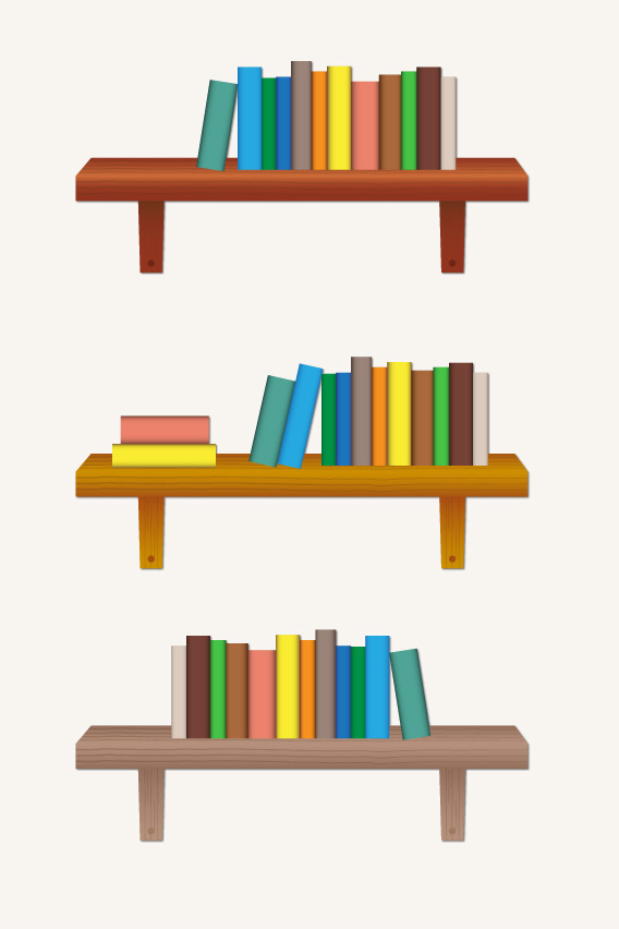 568x852 Vector Bookshelf Elemisfreebies