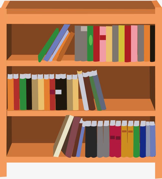650x718 Bookshelf Png Vector Elements, Bookshelf Vector, Books, Cartoon