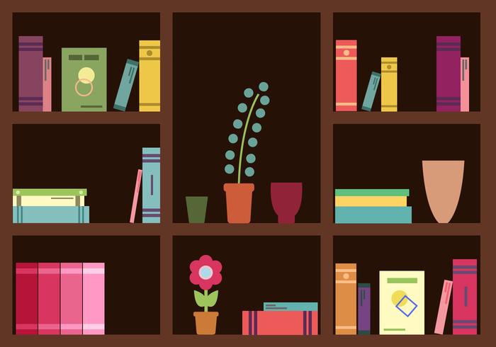 700x490 Bookshelf Vector