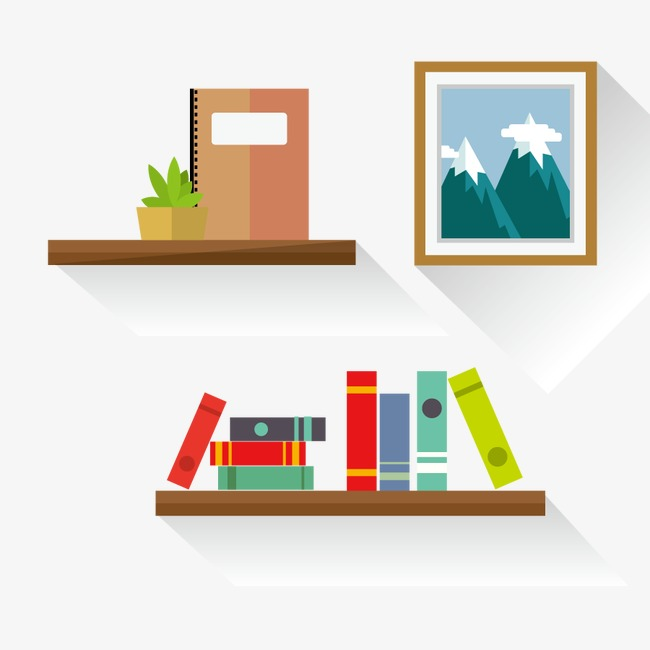 650x650 Bookshelf Vector Elements, Book, Frame, Hardcover Png And Vector
