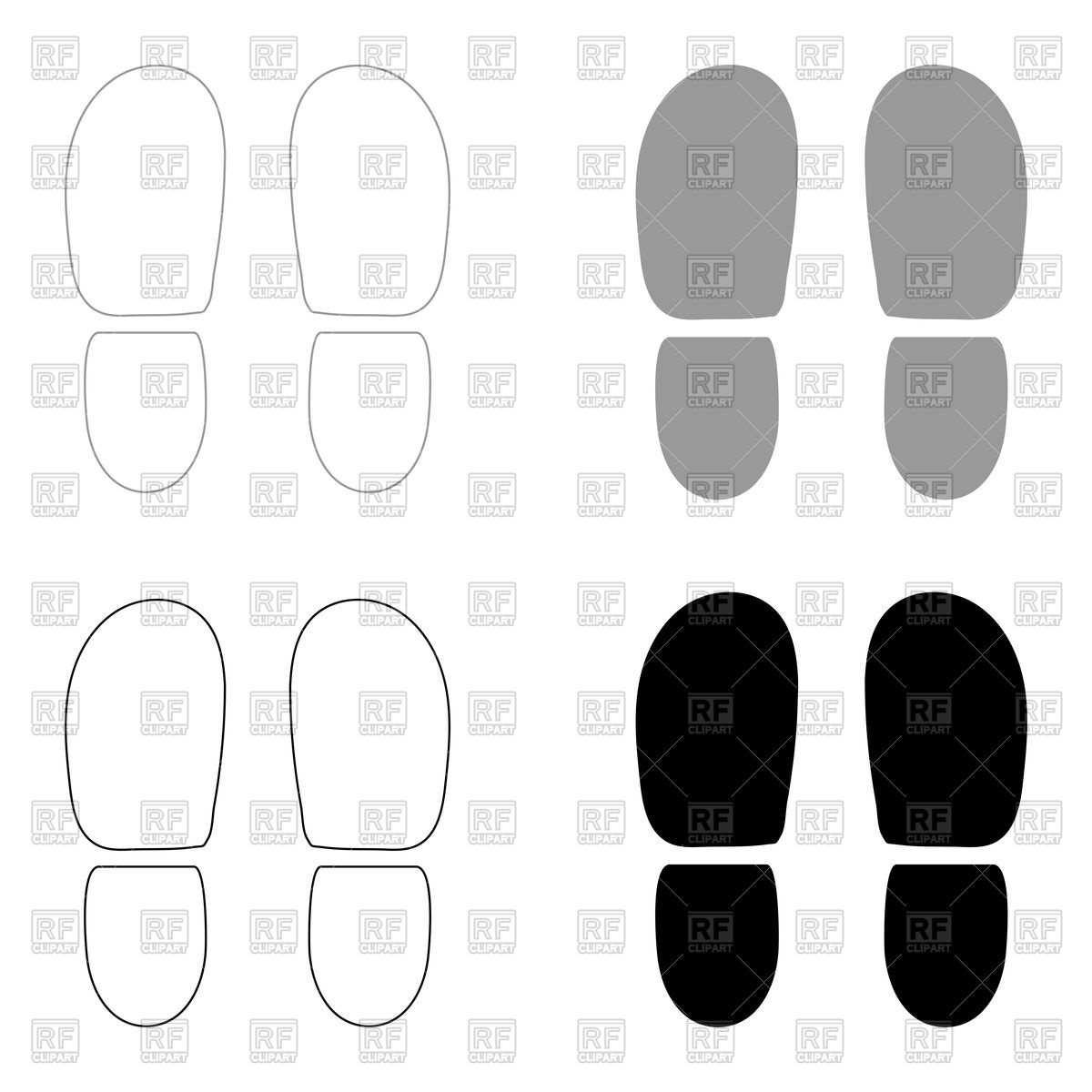 1200x1200 Footsteps, Shoe Print Or Bootprint Vector Image Vector Artwork