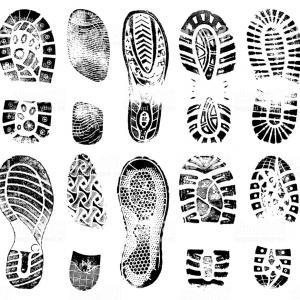 300x300 Imprint Shoes Sign Icon Shoe Print Symbol Vector Orangiausa