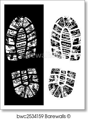 285x382 Art Print Of Vector Bootprint Barewalls Posters Amp Prints