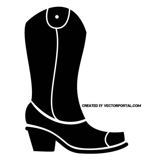 660x660 Cowboy Boot Clip Art
