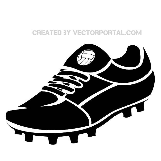 660x660 Football Boot Vector Image