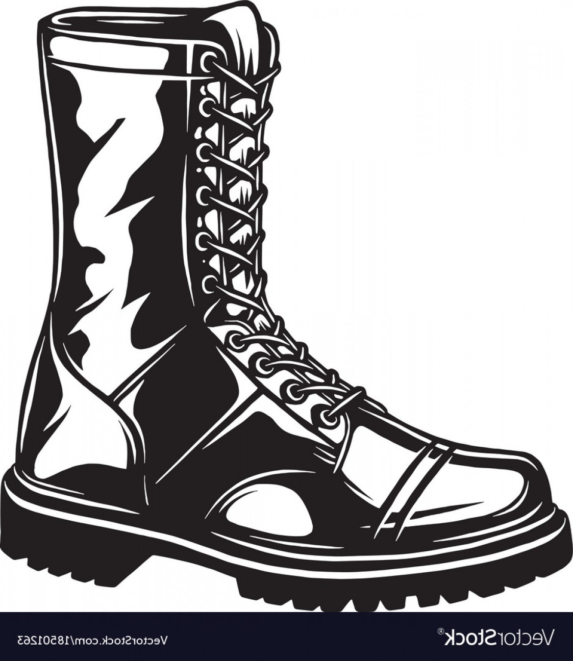 1123x1296 Fancy Monochrome Of Military Boot Vector Faalconn