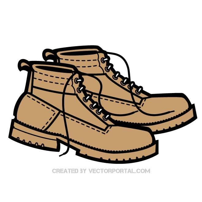 660x660 Free Pair Of Boots Vector Image.eps Psd Files, Vectors Amp Graphics