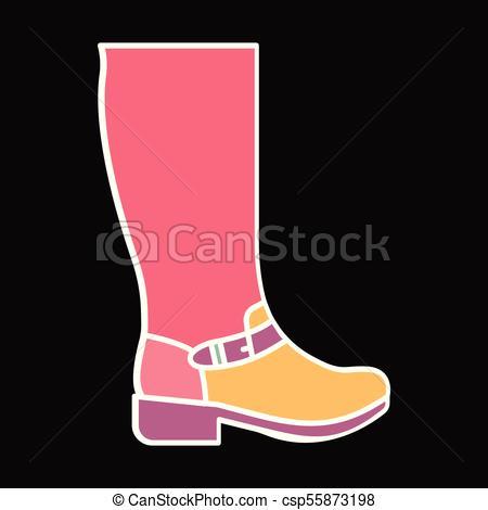 450x470 Hight Boot Icon, Cartoon Style. Hight Boot Icon. Cartoon Hight