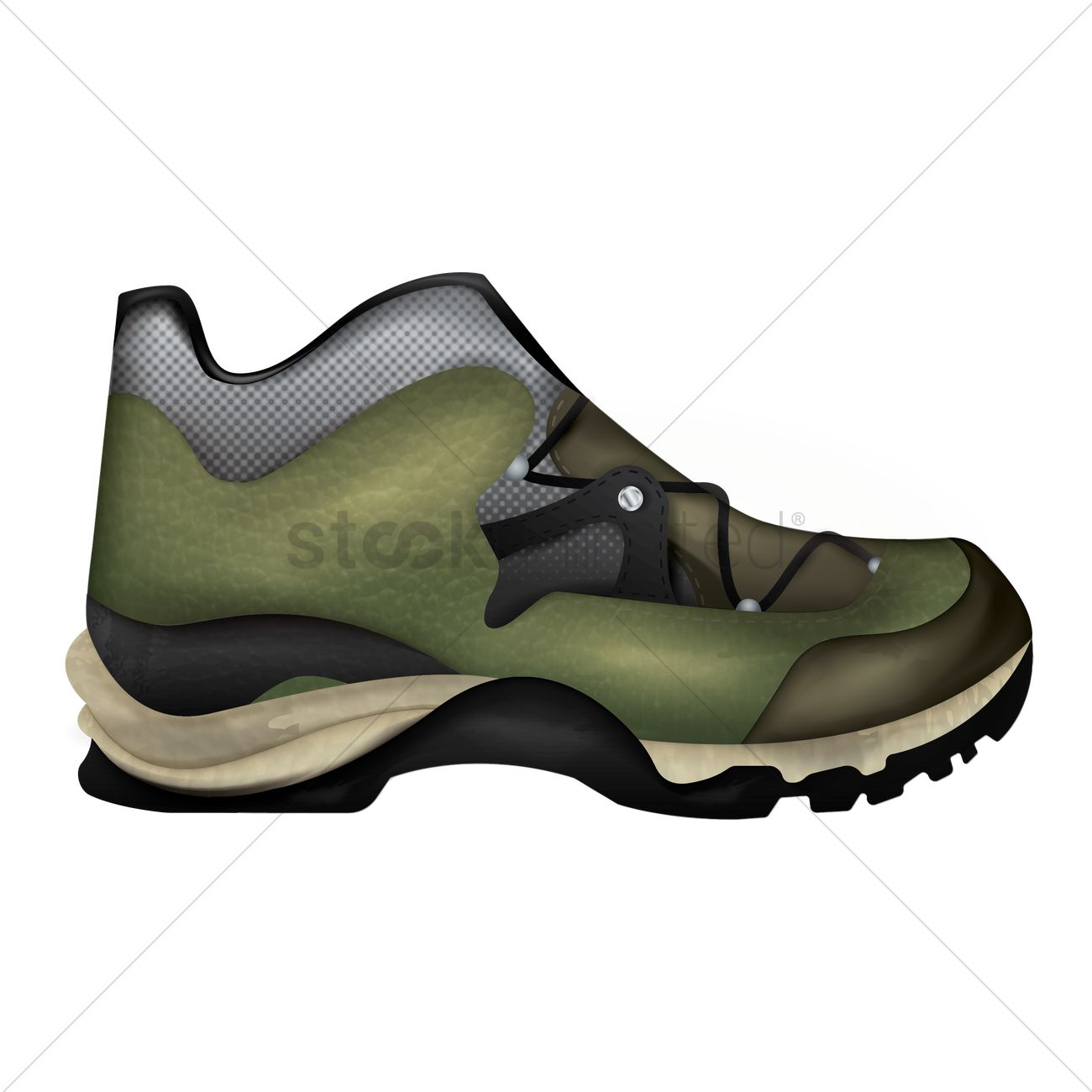 1300x1300 Hiking Boot Vector Image