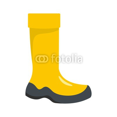 400x400 Rubber Boot Icon. Flat Illustration Of Rubber Boot Vector Icon For