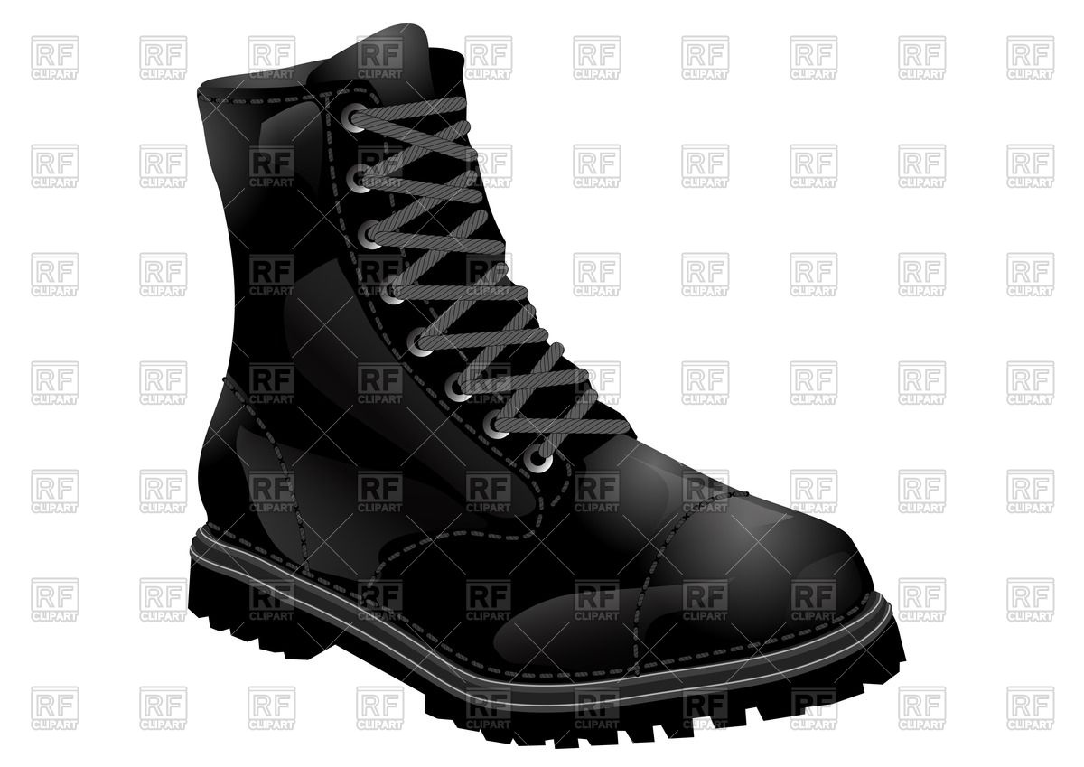 1200x849 Black Army Boot With Lacing Vector Image Vector Artwork Of