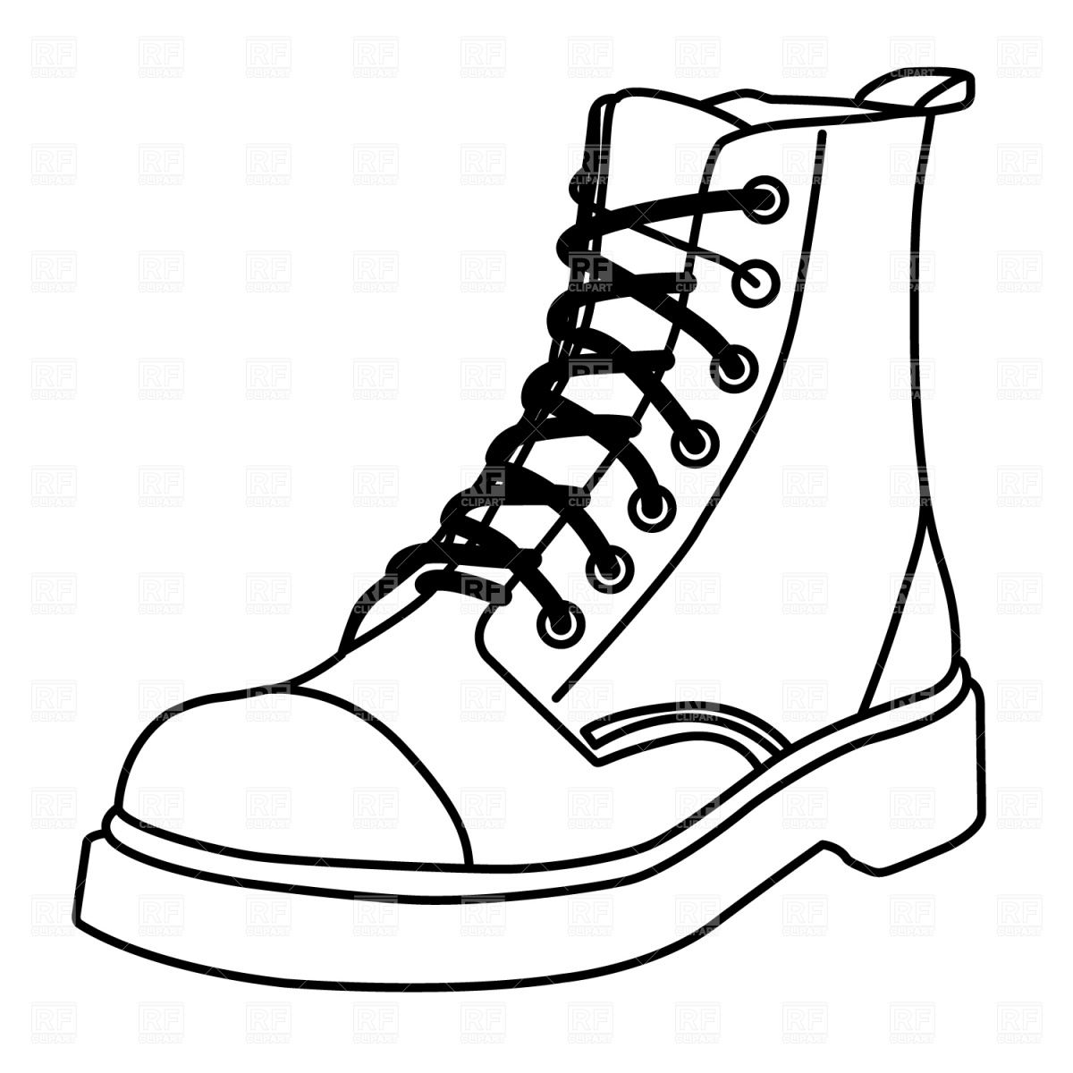 1200x1200 Boot Outline Vector Image Vector Artwork Of Beauty, Fashion