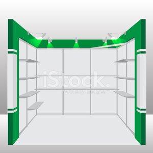 300x300 Empty Booth Vector Illustration Stock Vectors