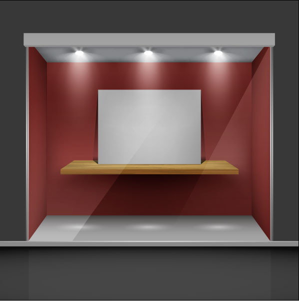 599x602 Exhibition Booth Window Free Vector 01 Free Download