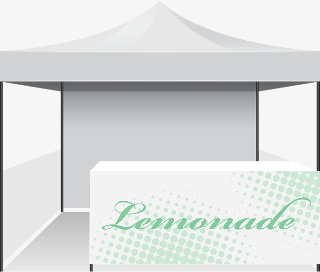 650x553 Lemonade Booth Vector Design, Flea Market, Flea Market, Market Png