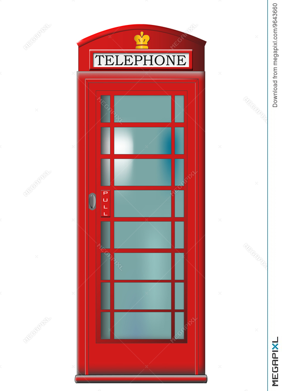577x800 Phone Booth Vector Illustration 9643660