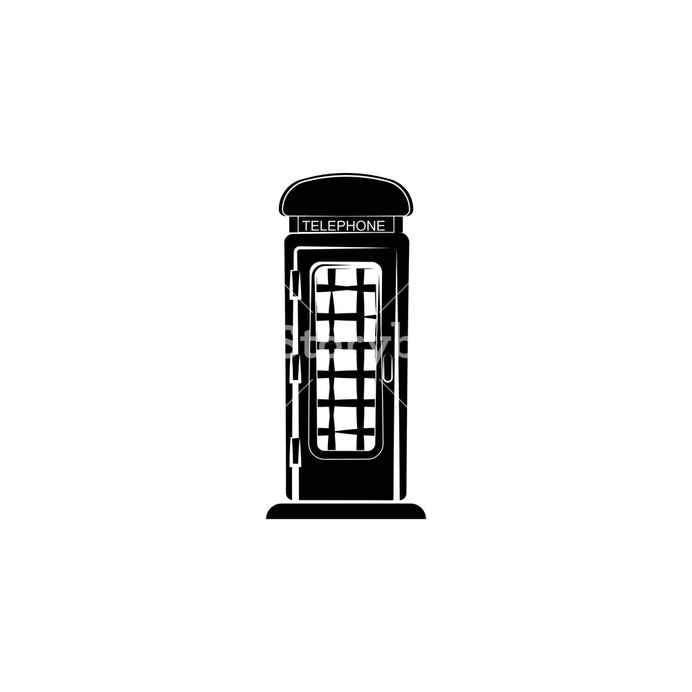 1000x1000 Phone Booth. Vector Illustration Royalty Free Stock Image