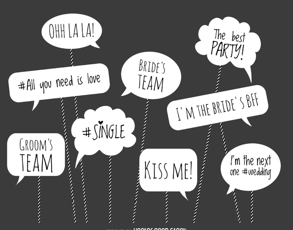 602x473 Wedding Photo Booth Phrases Free Vector Download 373035 Cannypic