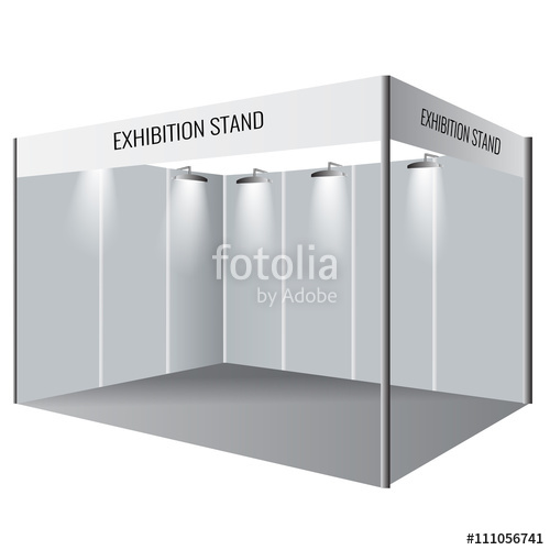 500x500 Creative Exhibition Stand Design. Booth Template. Corporate