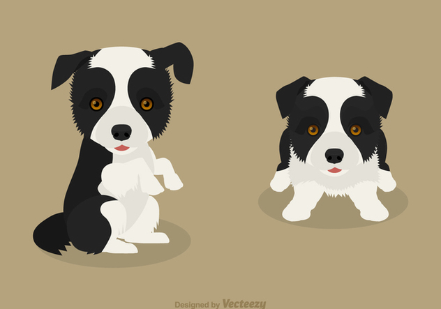 632x443 Free Vector Border Collie Puppies Free Vector Download 420247